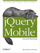 Cover image for jQuery Mobile: Up and Running