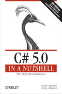 Cover of C# 5.0 in a Nutshell, 5th Edition