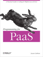 Cover of Programming for PaaS