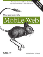 Cover image for Programming the Mobile Web, 2nd Edition
