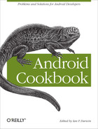 Cover of Android Cookbook