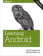 Cover image for Learning Android, 2nd Edition