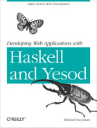 Cover of Developing Web Applications with Haskell and Yesod