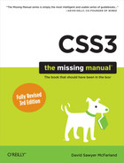 Cover of CSS3: The Missing Manual, 3rd Edition