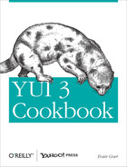 Cover of YUI 3 Cookbook