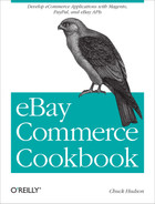 Cover image for eBay Commerce Cookbook