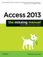 Cover image for Access 2013: The Missing Manual