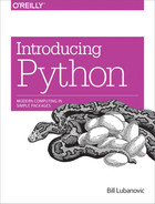Cover of Introducing Python