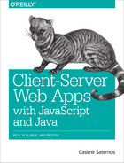 Cover image for Client-Server Web Apps with JavaScript and Java