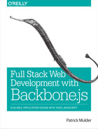 Cover of Full Stack Web Development with Backbone.js