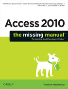 Cover image for Access 2010: The Missing Manual