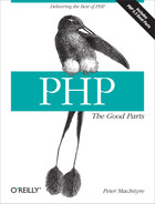 Cover image for PHP: The Good Parts