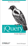 Cover image for jQuery Pocket Reference