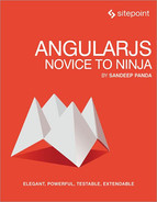 Cover of AngularJS: Novice to Ninja