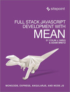 Cover of Full Stack JavaScript Development With MEAN
