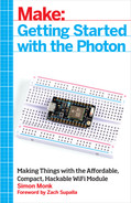 Book cover for Make: Getting Started with Spark Core and Photon