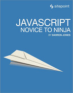 Cover of JavaScript: Novice to Ninja