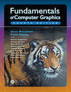 Cover of Fundamentals of Computer Graphics, 4th Edition