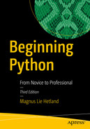 Cover of Beginning Python: From Novice to Professional, 3rd Edition