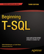 Cover of Beginning T-SQL
