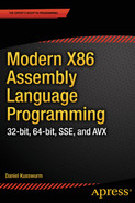 Cover of Modern X86 Assembly Language Programming: 32-bit, 64-bit, SSE, and AVX
