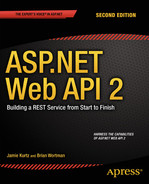 Cover of ASP.NET Web API 2: Building a REST Service from Start to Finish
