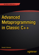 Cover of Advanced Metaprogramming in Classic C++