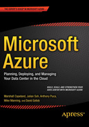 Cover of Microsoft Azure: Planning, Deploying, and Managing Your Data Center in the Cloud