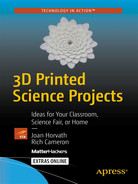 Cover of 3D Printed Science Projects: Ideas for Your Classroom, Science Fair, or Home