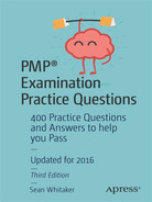 Cover of PMP® Examination Practice Questions: 400 Practice Questions and Answers to help you Pass, Third Edition