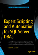 Cover of Expert Scripting and Automation for SQL Server DBAs