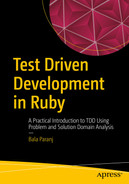 Cover of Test Driven Development in Ruby: A Practical Introduction to TDD Using Problem and Solution Domain Analysis