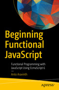 Cover of Beginning Functional JavaScript: Functional Programming with JavaScript Using EcmaScript 6