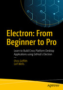 Cover of Electron: From Beginner to Pro: Learn to Build Cross Platform Desktop Applications using Github's Electron