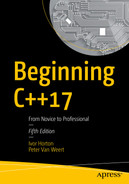 Cover of Beginning C++17: From Novice to Professional