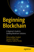 Cover of Beginning Blockchain: A Beginner's Guide to Building Blockchain Solutions