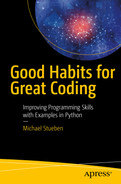Cover of Good Habits for Great Coding: Improving Programming Skills with Examples in Python