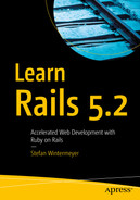 Cover of Learn Rails 5.2: Accelerated Web Development with Ruby on Rails