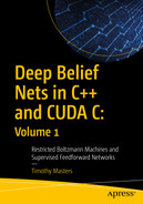 Cover of Deep Belief Nets in C++ and CUDA C: Volume 1: Restricted Boltzmann Machines and Supervised Feedforward Networks