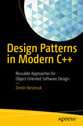 Cover of Design Patterns in Modern C++: Reusable Approaches for Object-Oriented Software Design