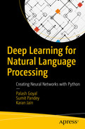 Cover of Deep Learning for Natural Language Processing: Creating Neural Networks with Python