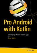 Cover of Pro Android with Kotlin: Developing Modern Mobile Apps