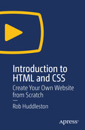 Cover of Introduction to HTML and CSS: Create Your Own Website From Scratch