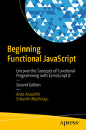 Cover of Beginning Functional JavaScript: Uncover the Concepts of Functional Programming with EcmaScript 8