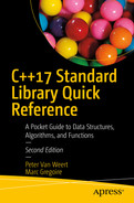C++17 Standard Library Quick Reference: A Pocket Guide to Data Structures, Algorithms, and Functions