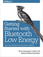 Cover image for Getting Started with Bluetooth Low Energy