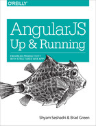 Book cover for AngularJS: Up and Running