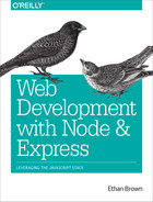 Cover of Web Development with Node and Express