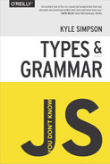 Cover of You Don't Know JS: Types & Grammar