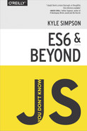 Cover of You Don't Know JS: ES6 & Beyond